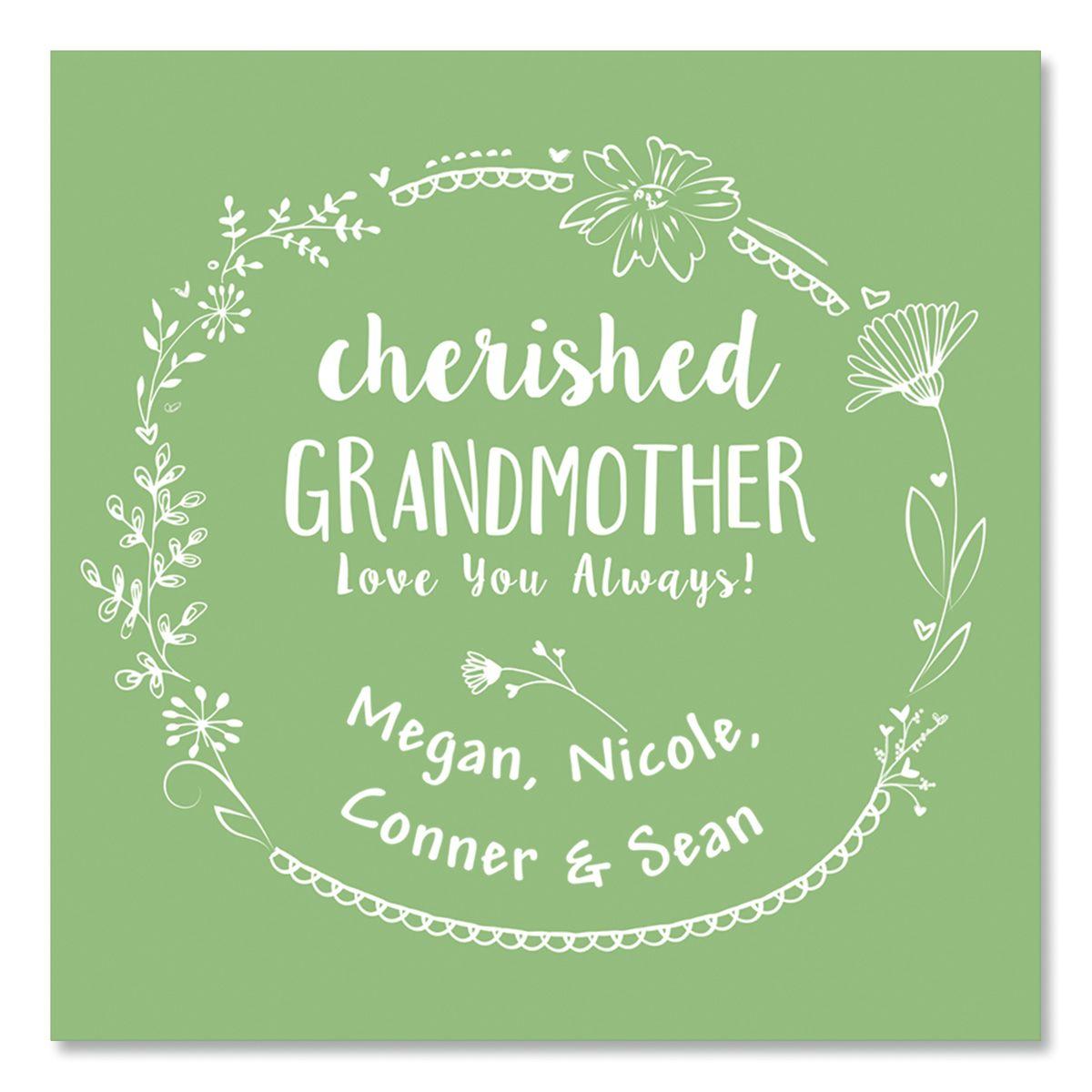 Personalized Grandmother Glass Trinket Box
