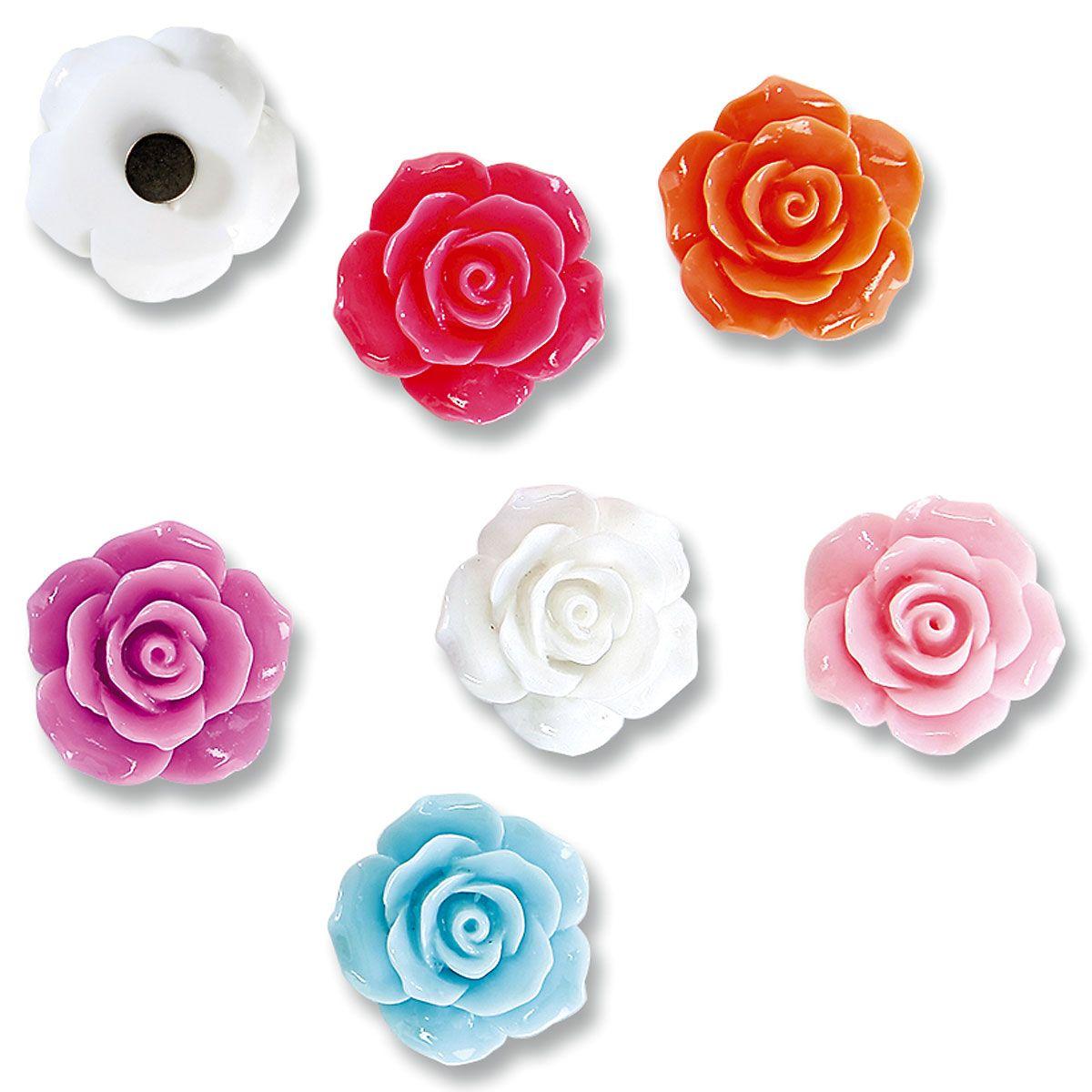 Decorative Roses Magnet Set