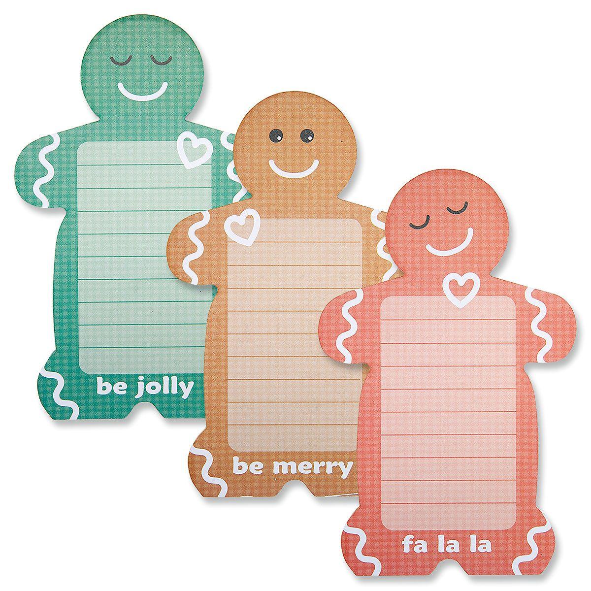 Gingerbread Men Lined Notepads - BOGO