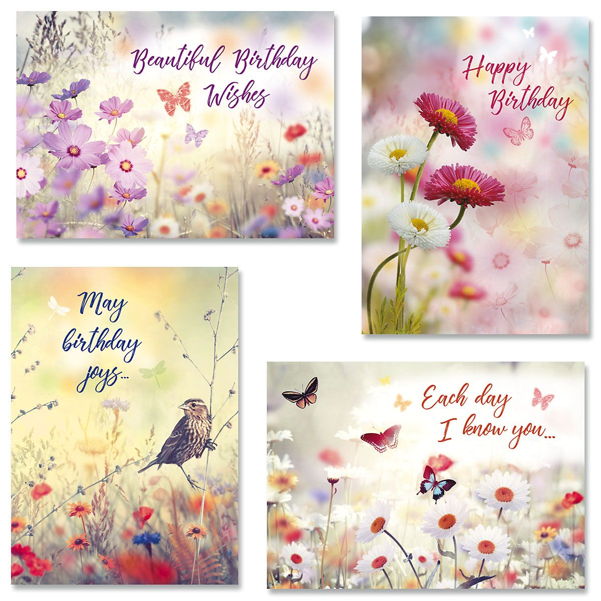 Floral Birthday Cards And Seals Current Catalog