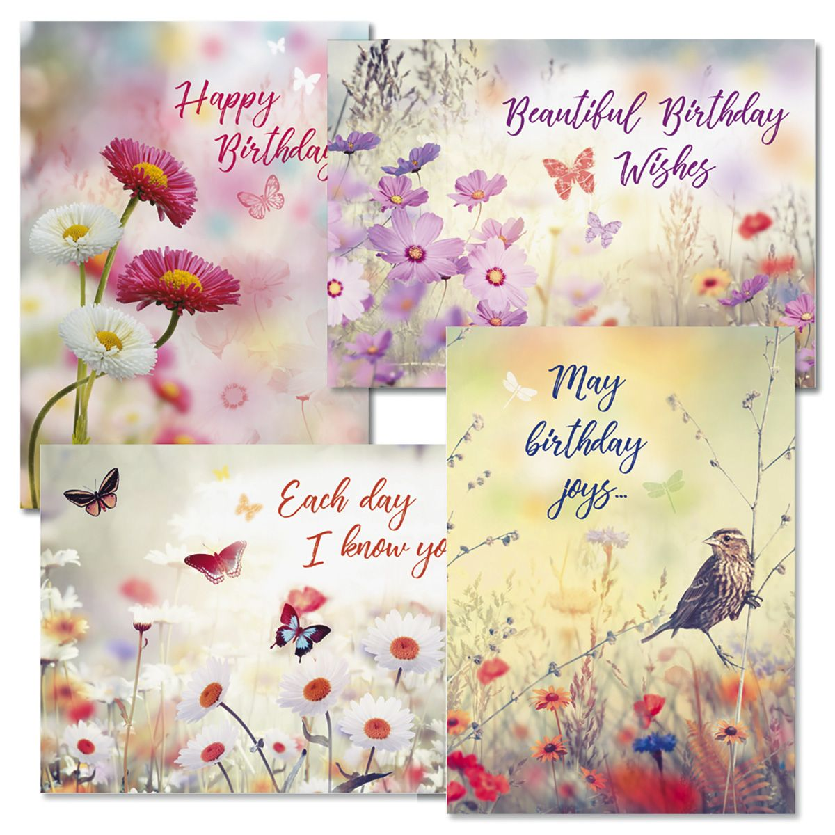 Floral Birthday Faith Cards and Seals
