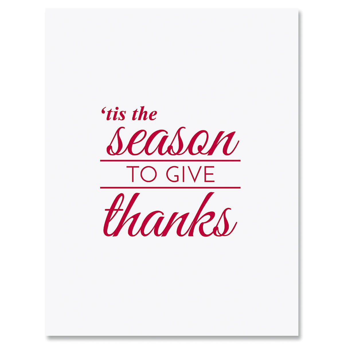 'Tis the Season Thank You Note Cards