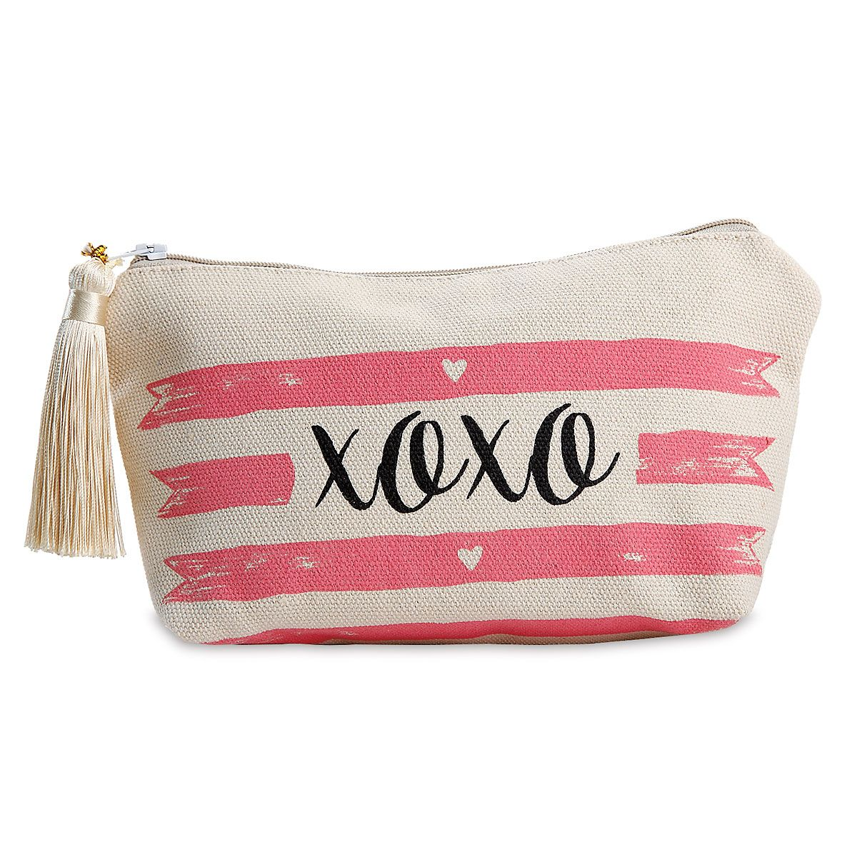 XOXO Canvas Cosmetic Bag - BOGO