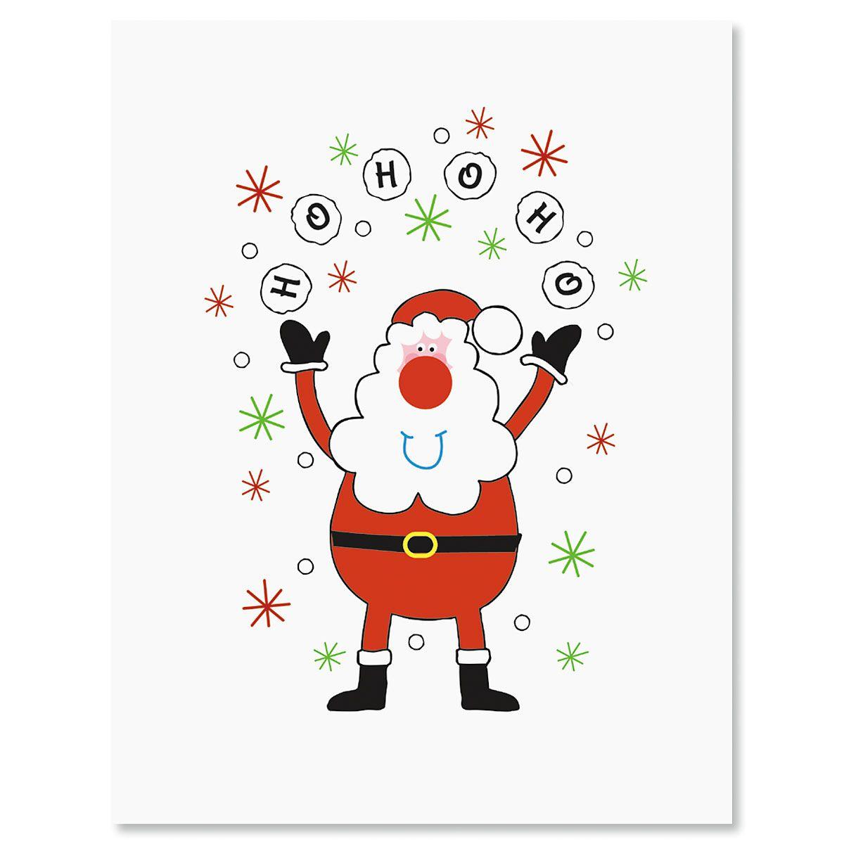 Ho Ho Ho Santa Christmas Note Cards