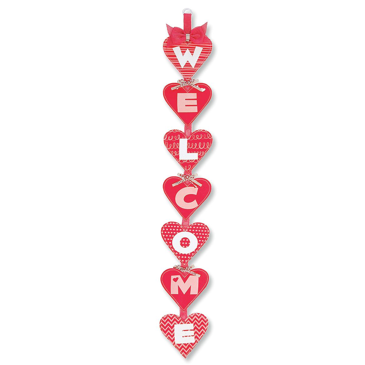 Canvas Heart Welcome Banner