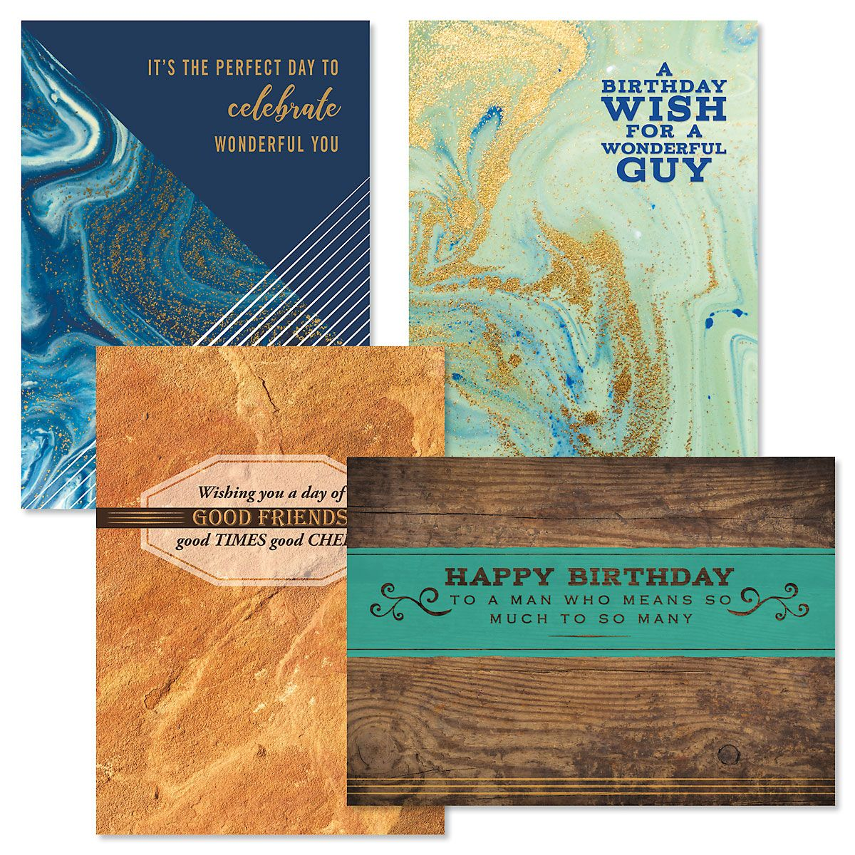 Men In Mind Birthday Cards and Seals
