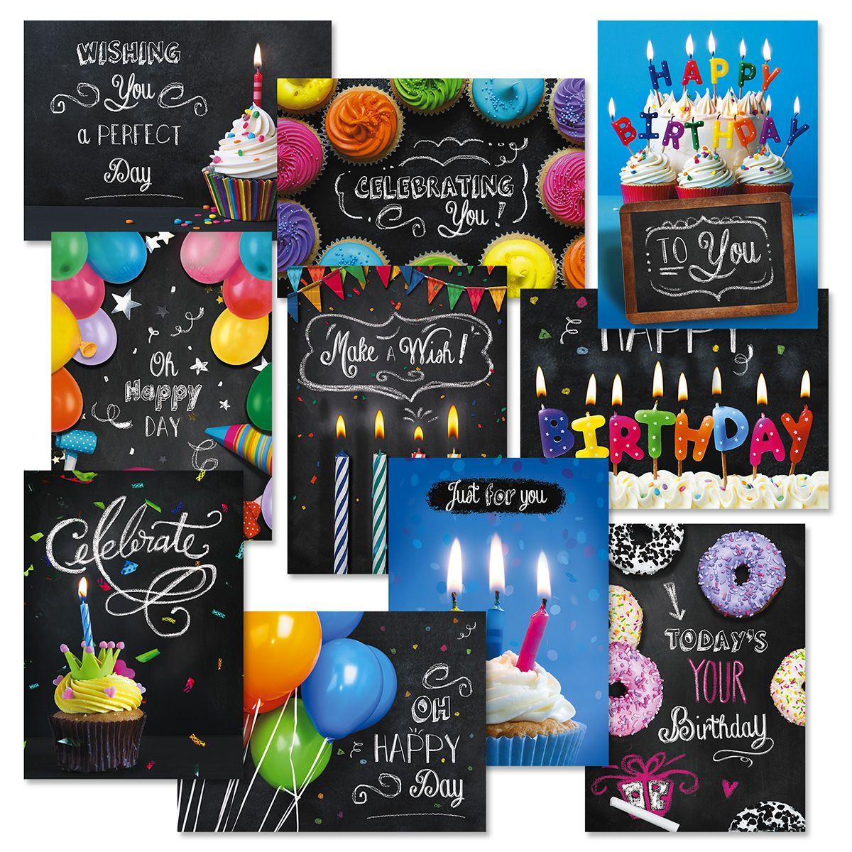 Blackboard Birthday Cards Value Pack