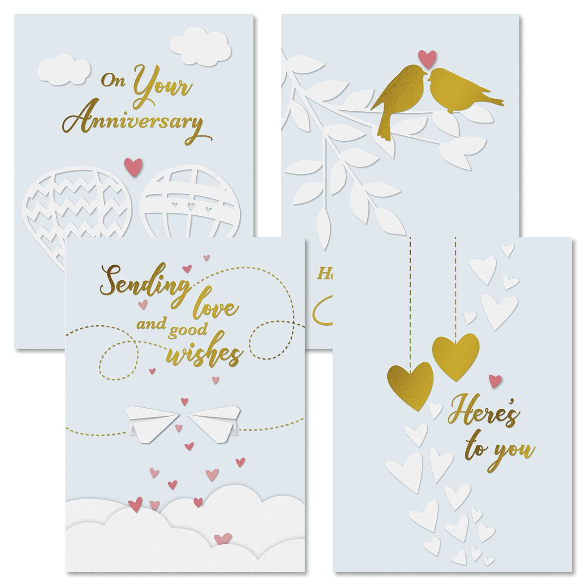Whimsy Anniversary Cards and Seals