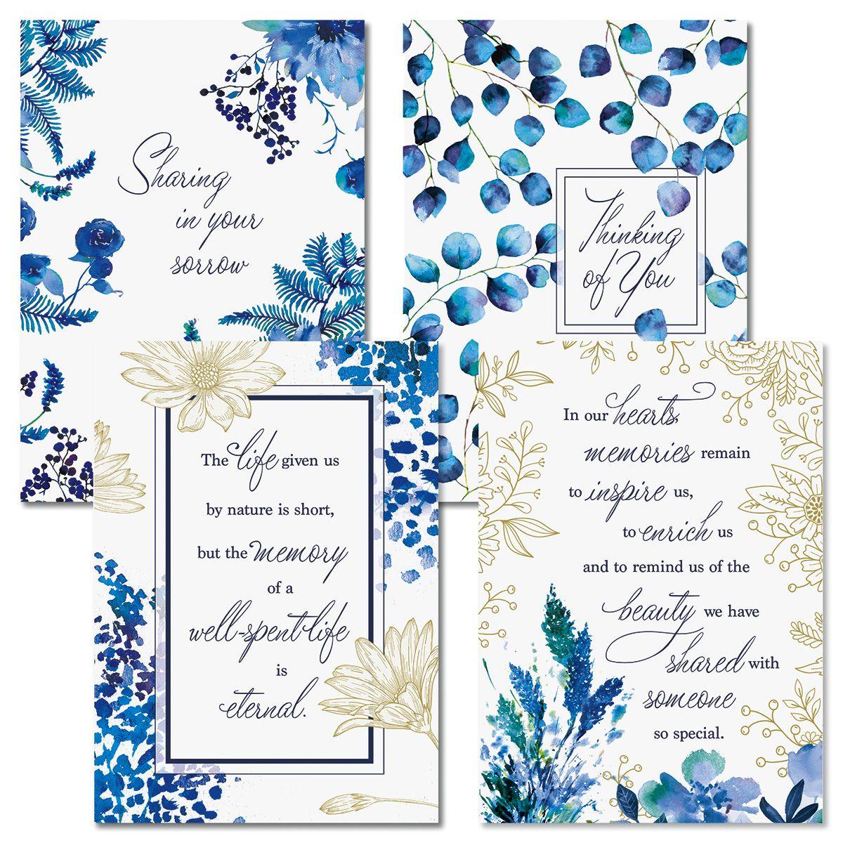 Delft Blue Faith Sympathy Cards and Seals
