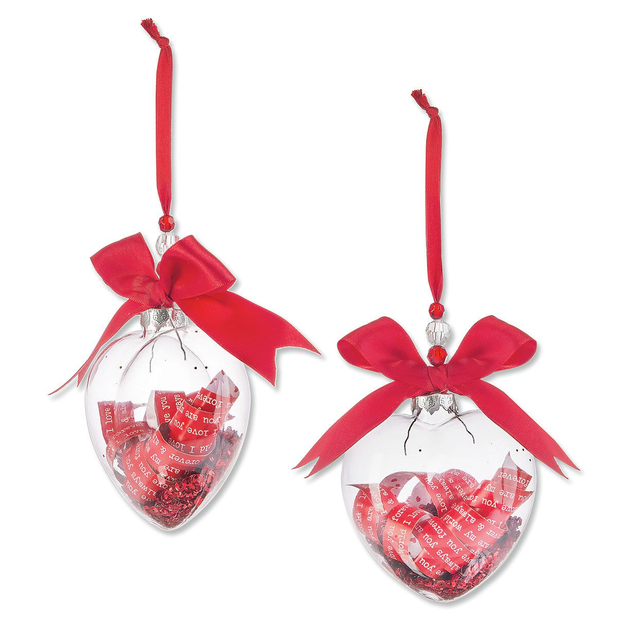 Glass Love Notes Ornament