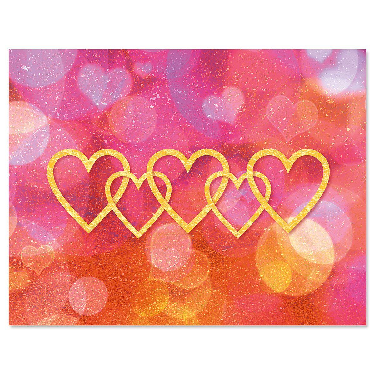 Linked Hearts Note Cards - BOGO