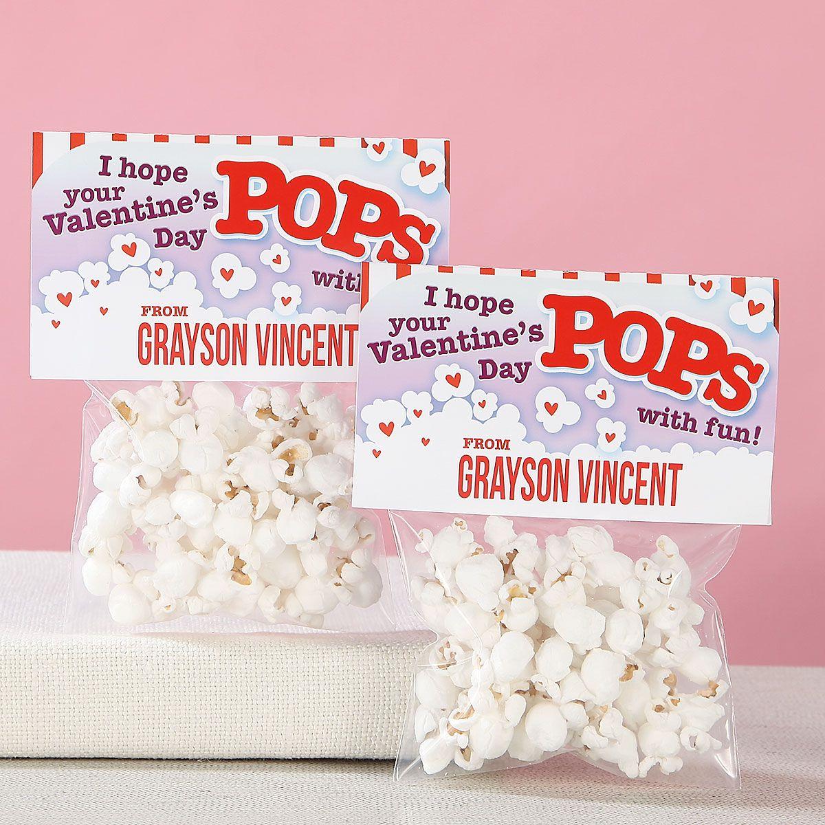 Personalized Popcorn Valentines