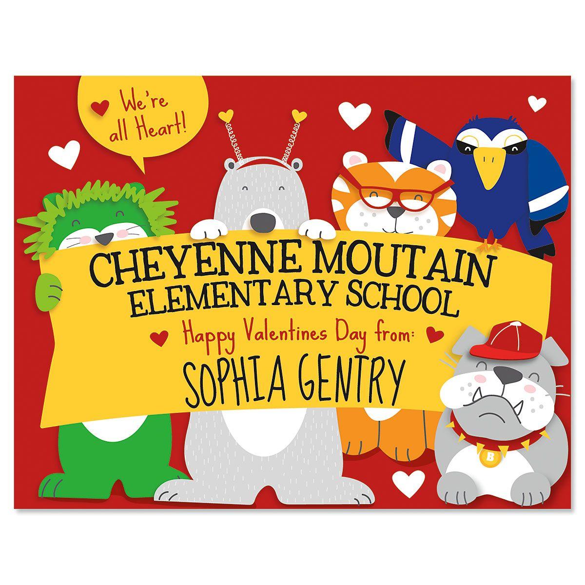 Personalized School Banner Valentines