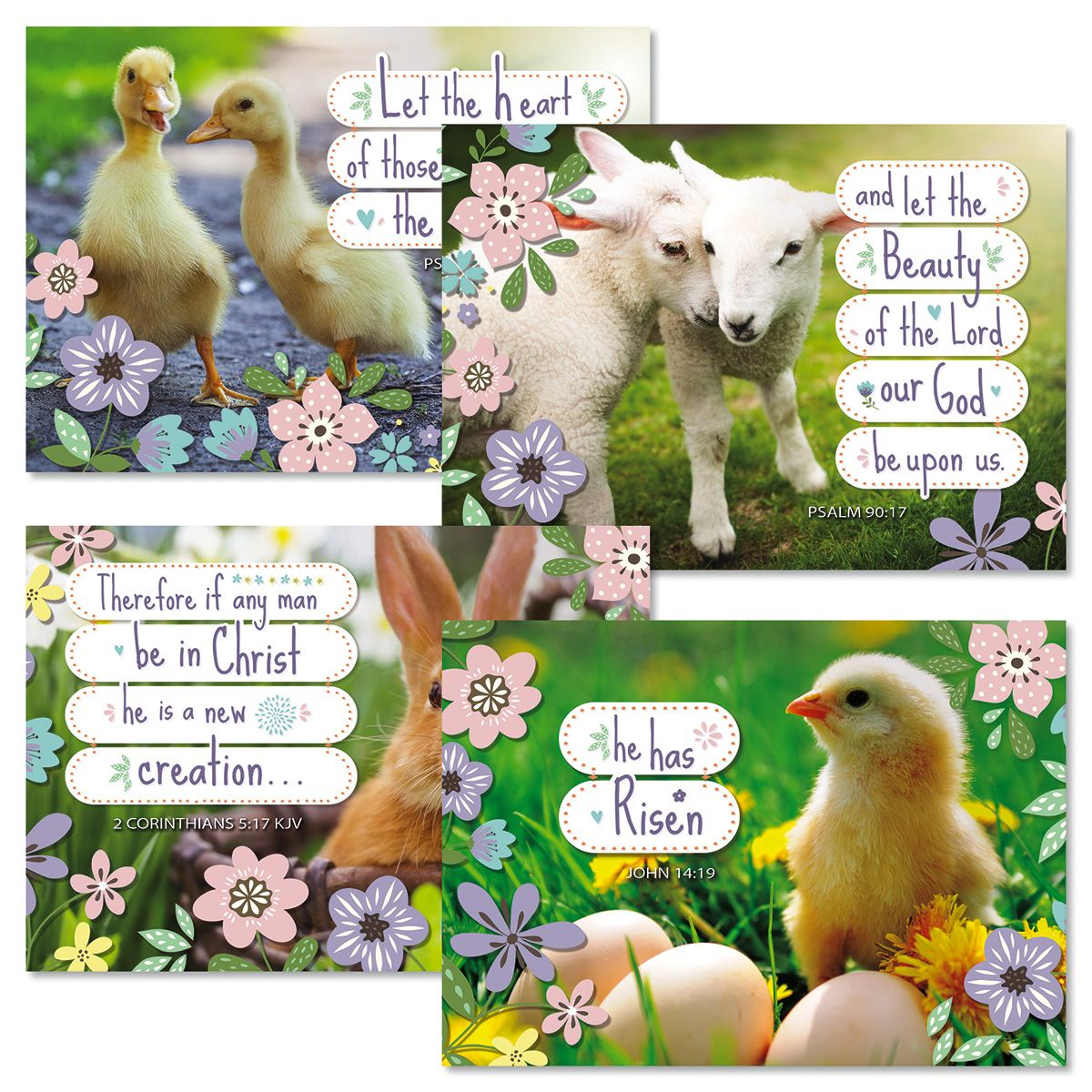 Spring Babies Easter Faith Cards