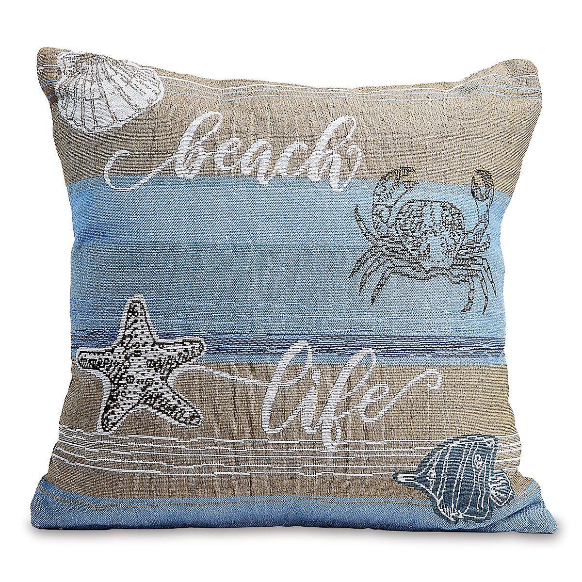 Coastal Woven Throw and Pillow