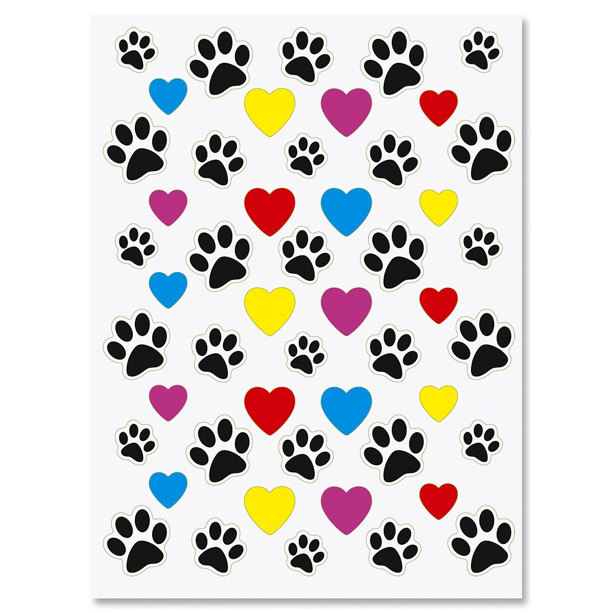Pawprints/Hearts Stickers