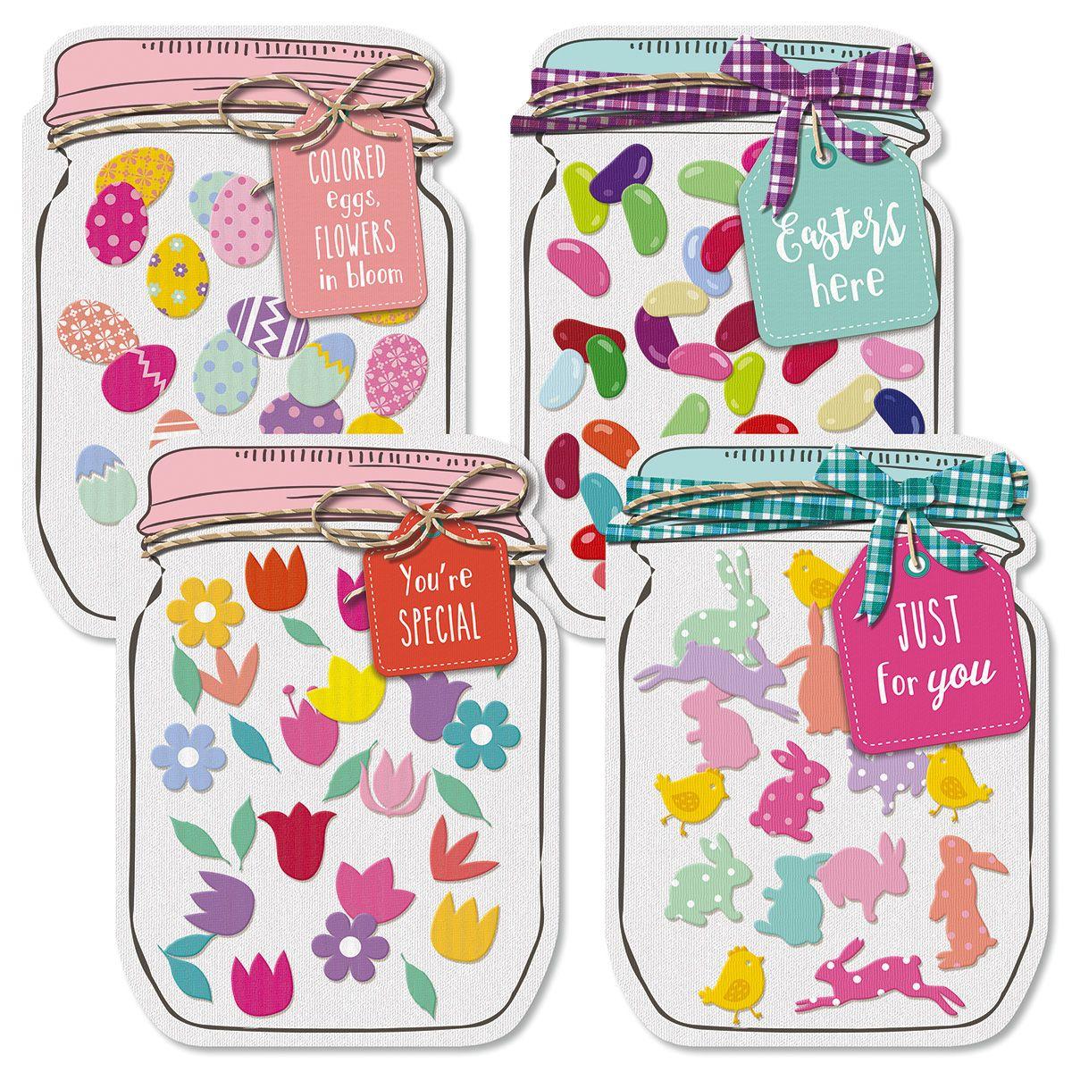 Diecut Jar Easter Cards