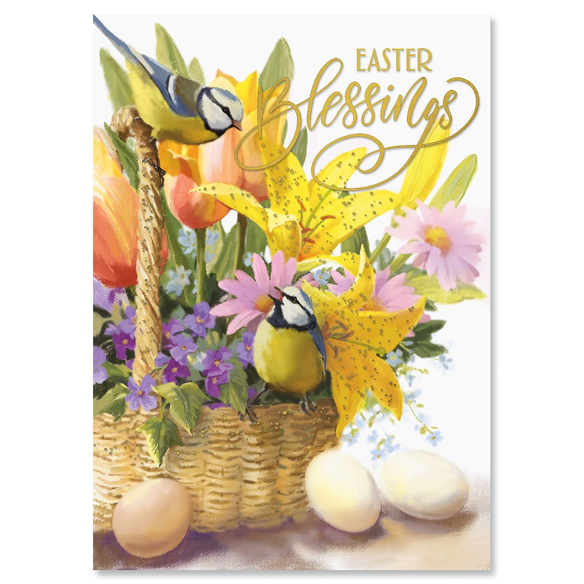 Deluxe Blessings Basket Religious Easter Cards