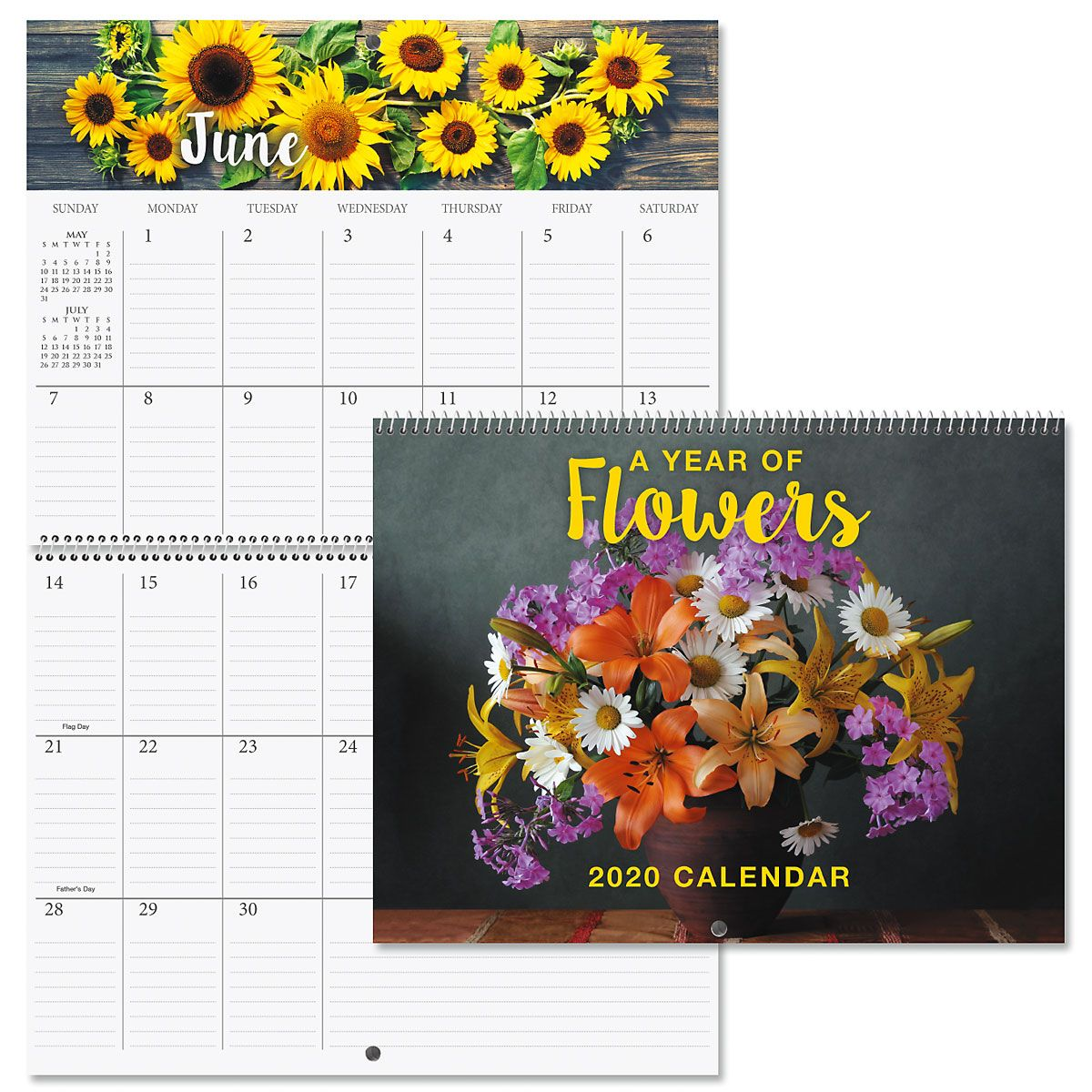 2020 A Year of Flowers Big Grid Planning Calendar
