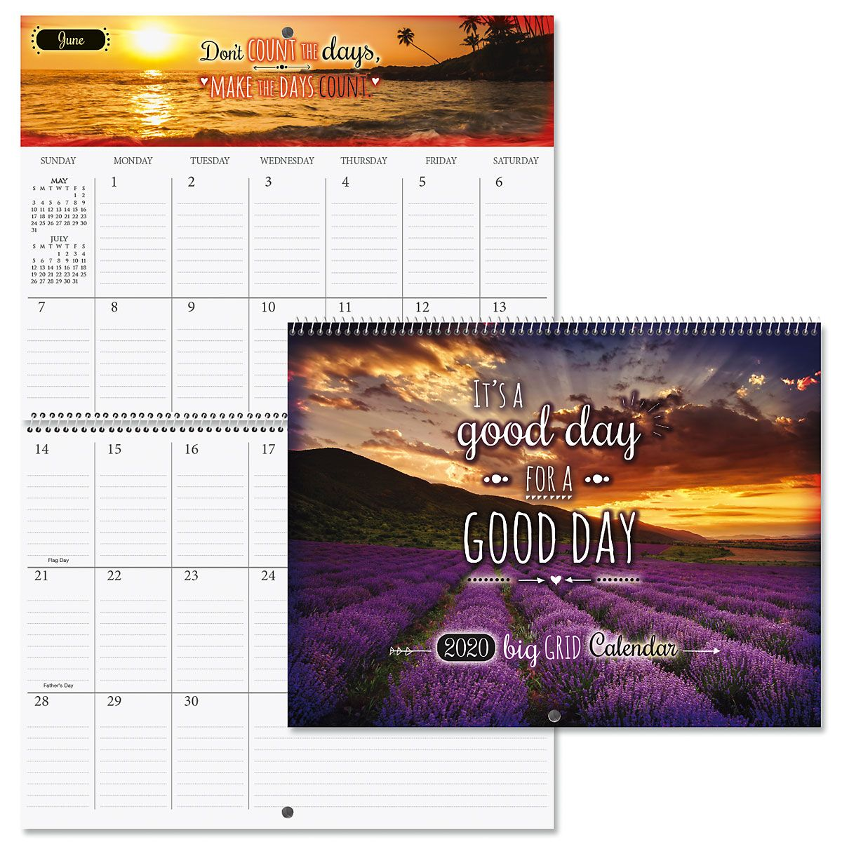 2020 Good Day Quotes Big Grid Planning Calendar