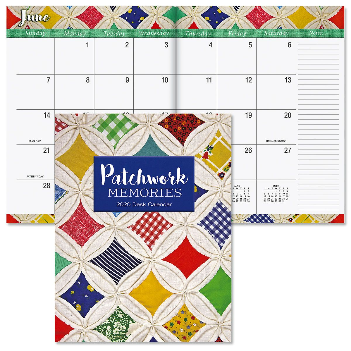 2020 Patchwork Memories Desk Calendar