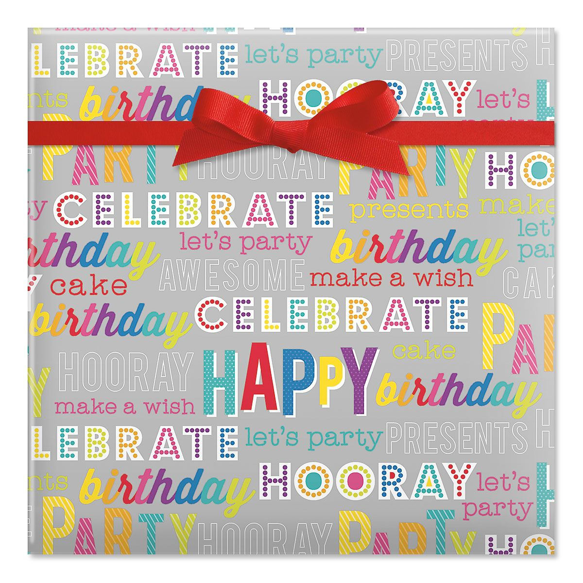Party on Broadway Jumbo Rolled Gift Wrap