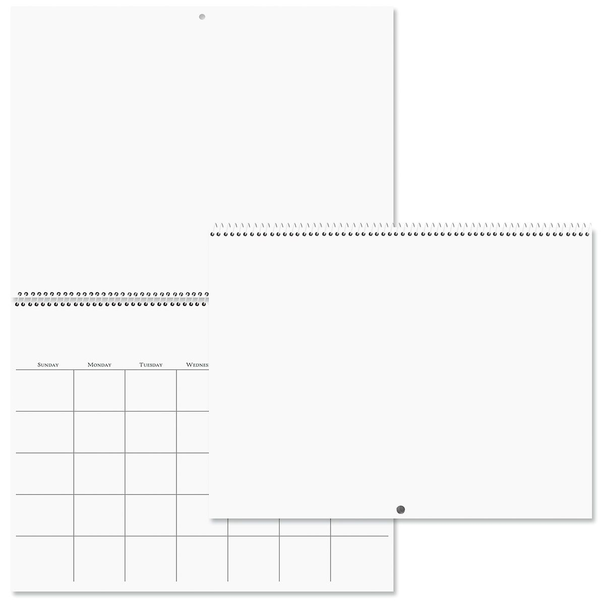 Scrapbooking Photo Blank Calendar & Stickers