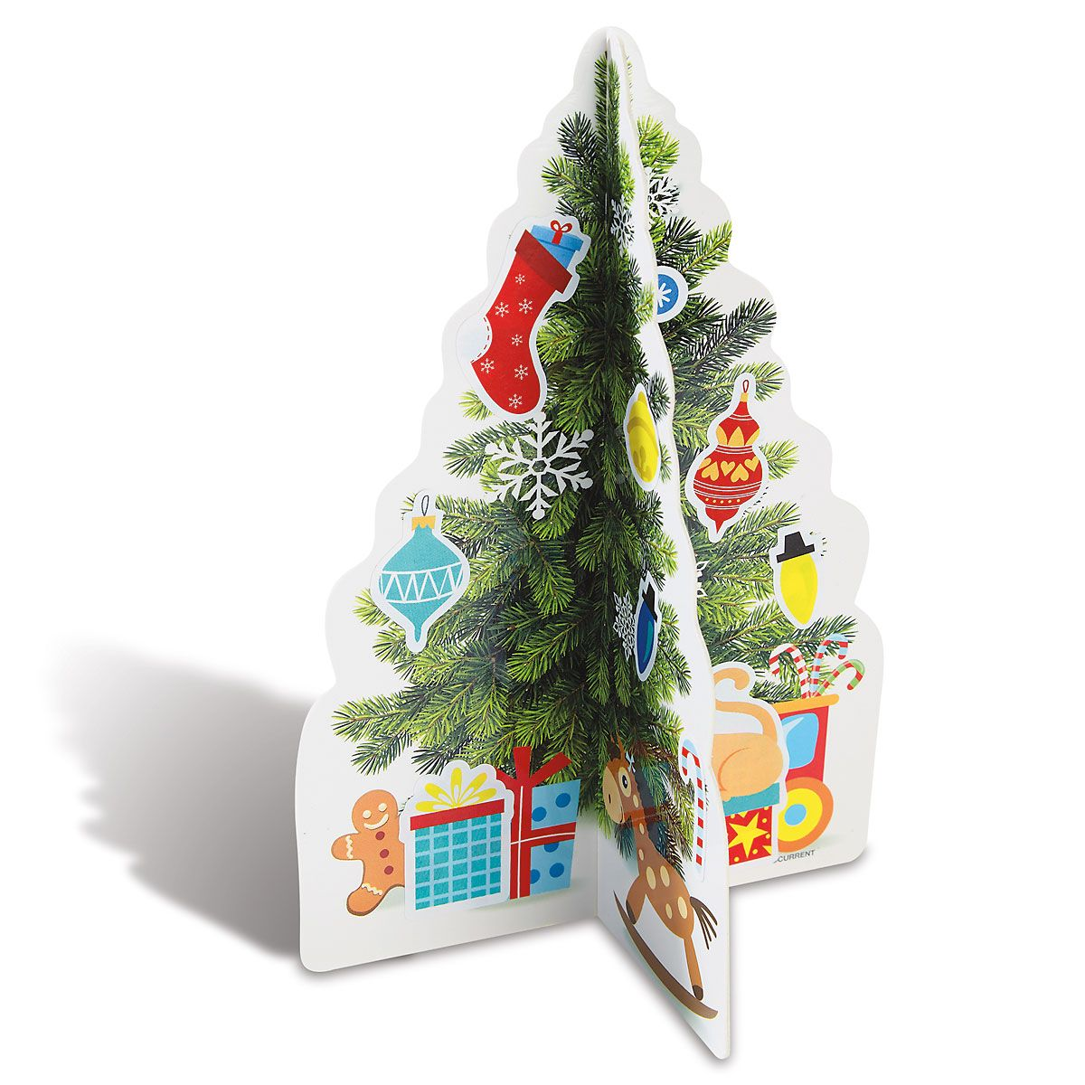 Diecut 3D Christmas Trees & Stickers