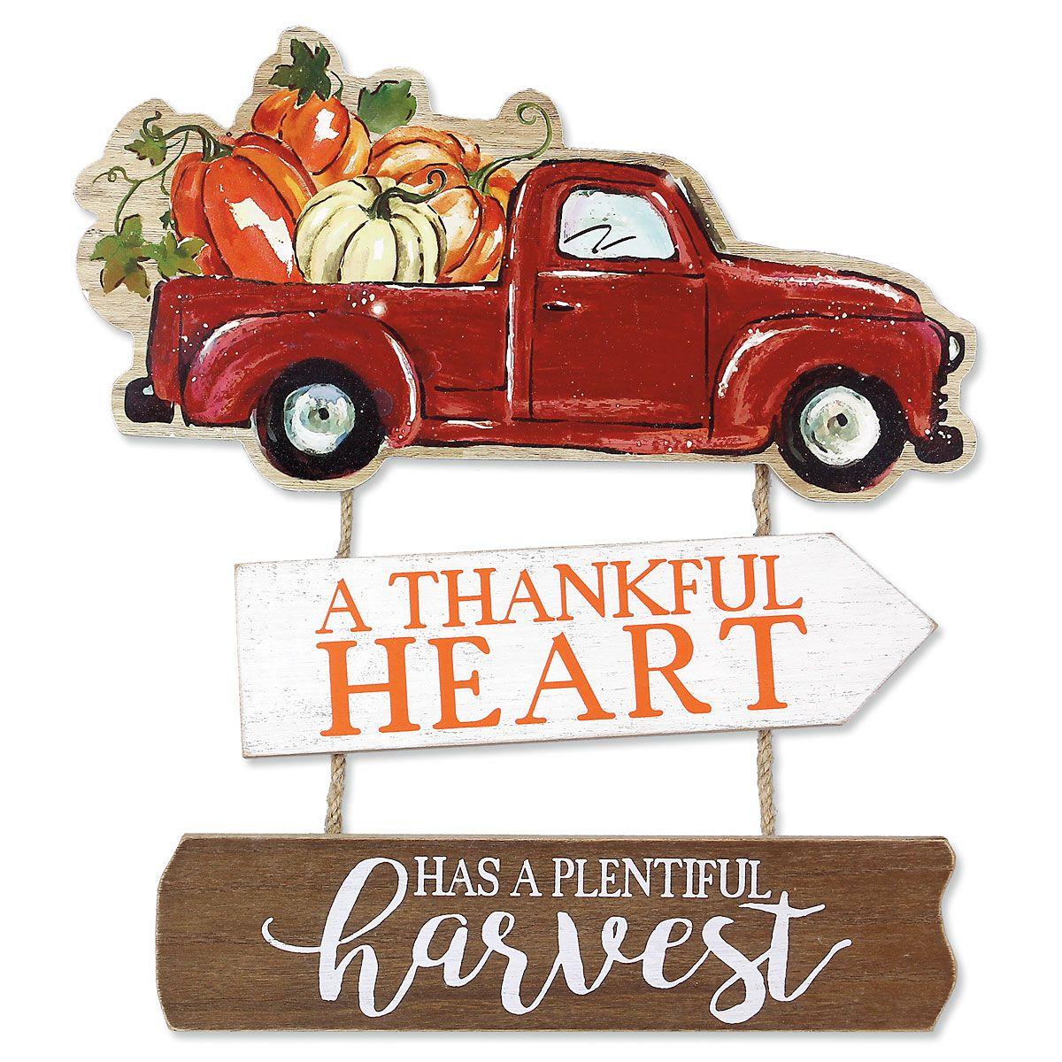 Thankful Heart Truck Sign