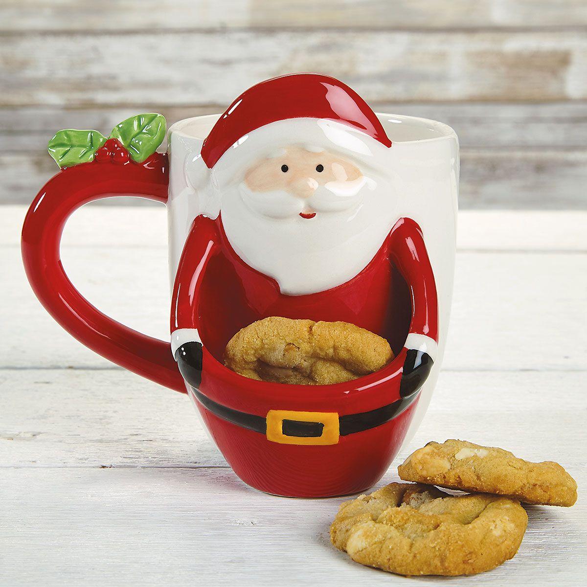 Santa Cookie Christmas Mug