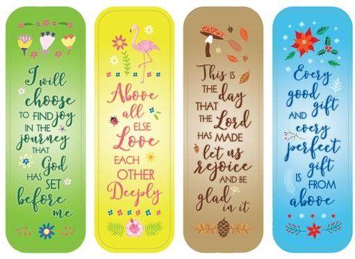Faith Four Seasons Bookmarks - BOGO