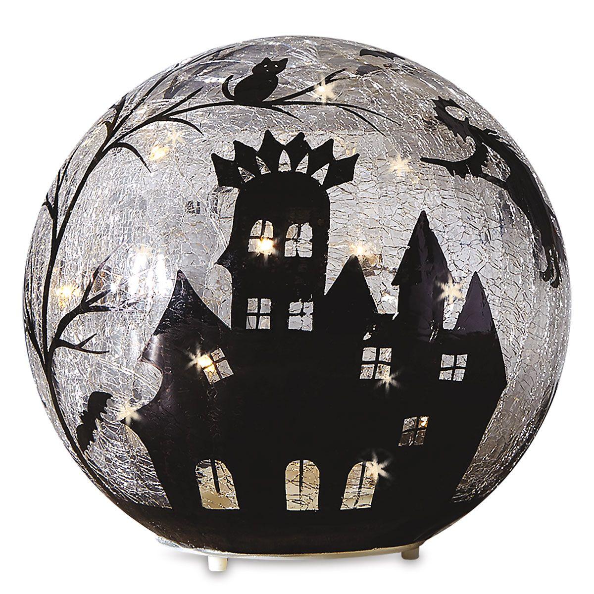 LED-Illuminated Halloween Orb