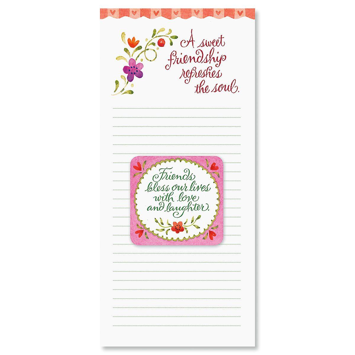Sweet Friendship Magnet & List Pad