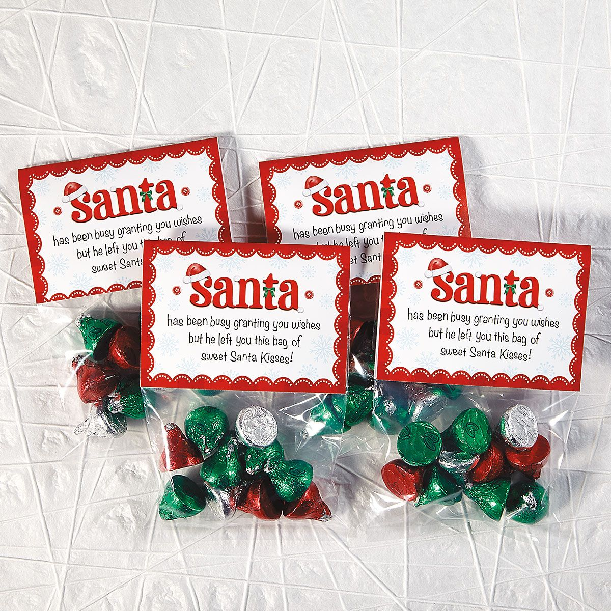 Santa Kisses Bags and Toppers