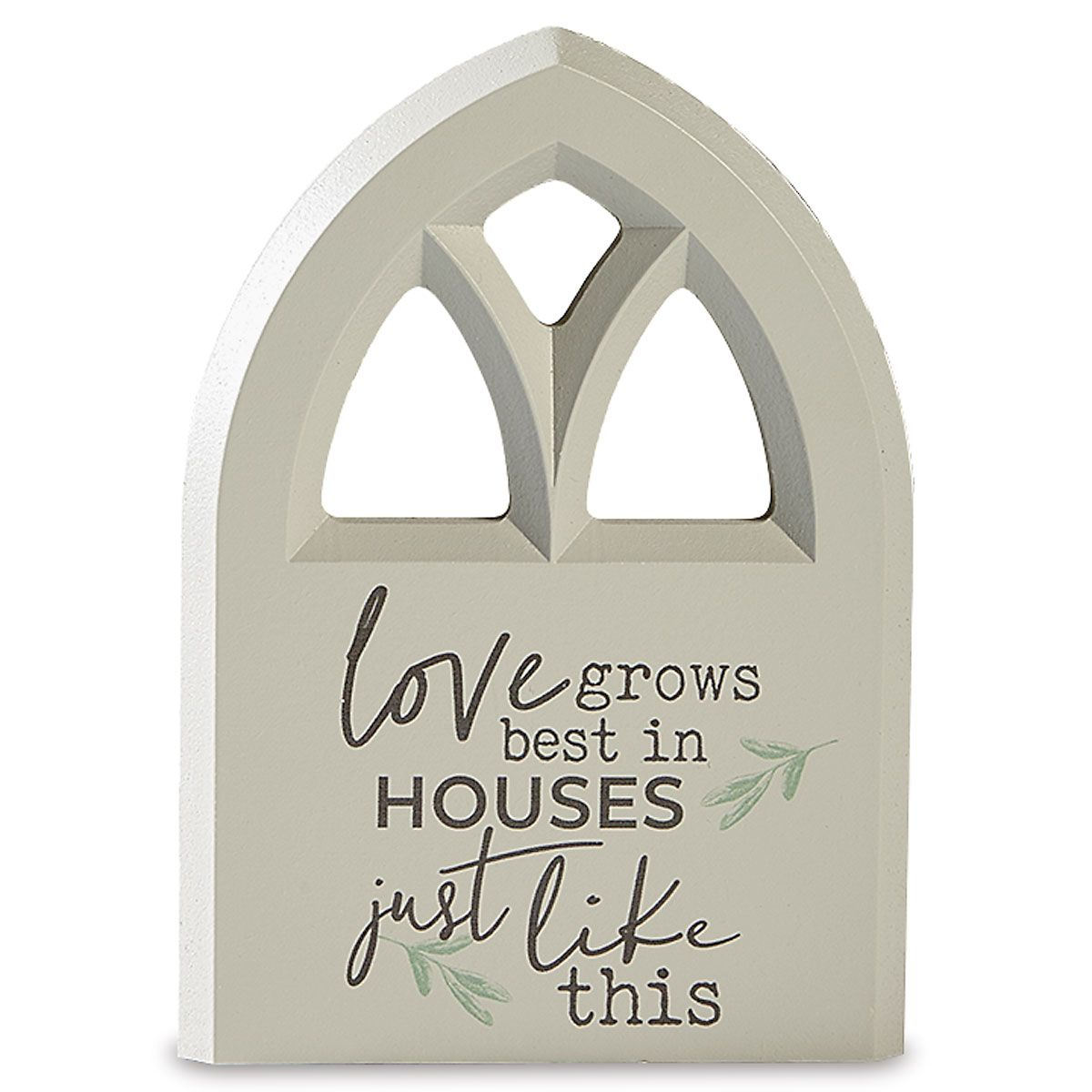 Love Grows Inspirational Plaque