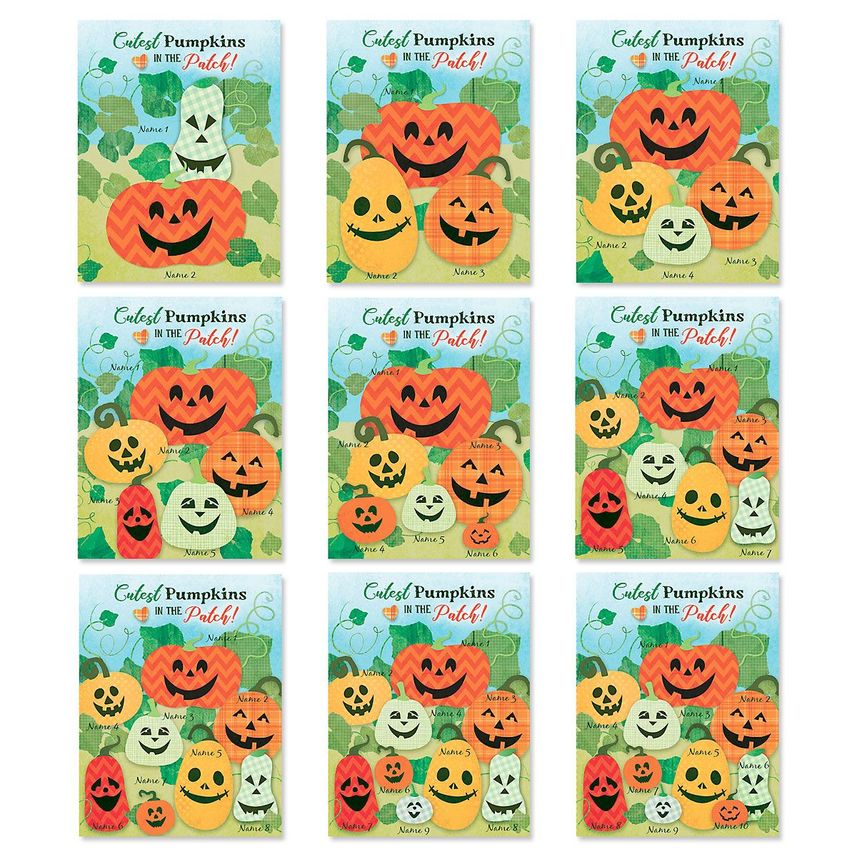 Little Pumpkins Personalized Halloween Garden Flag