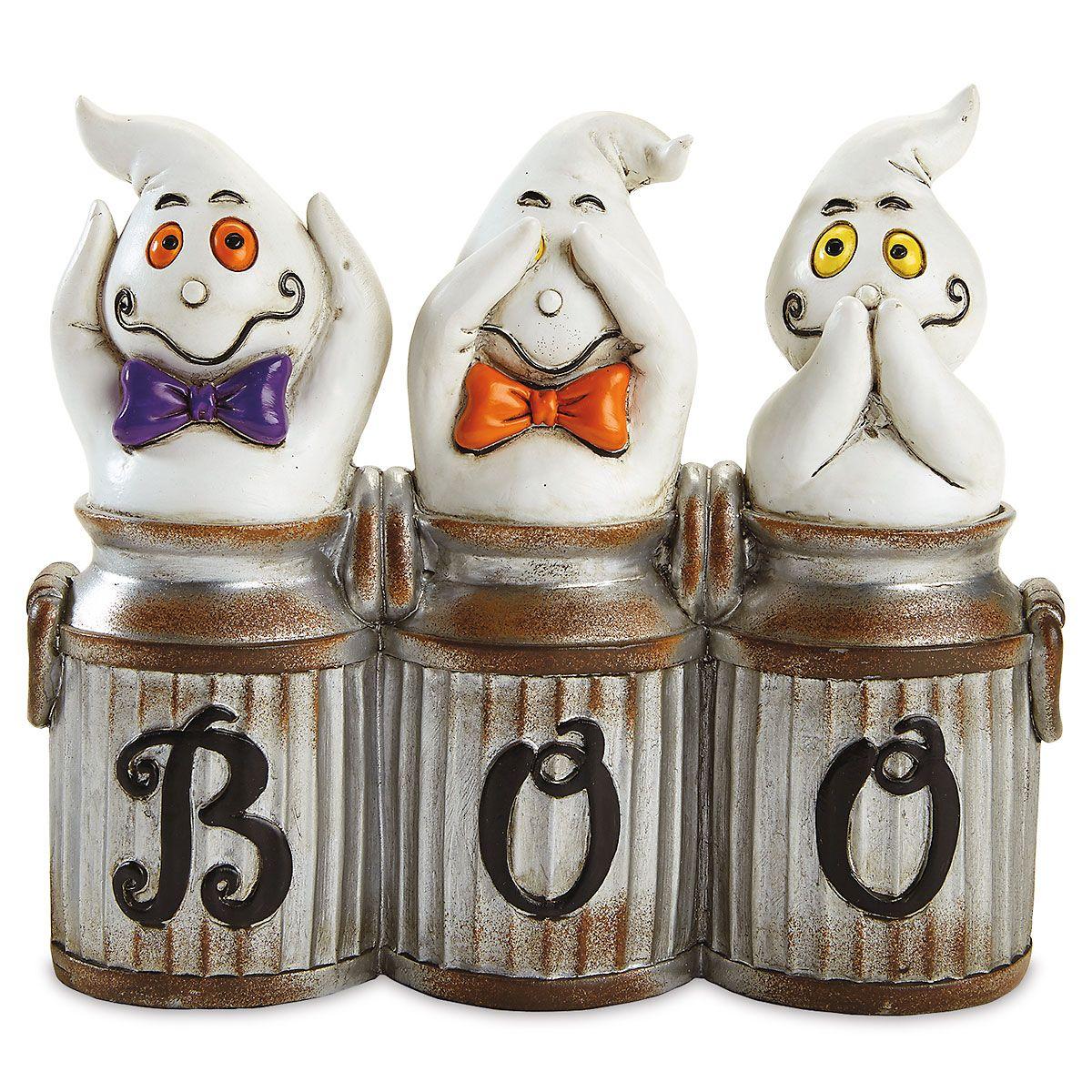 Hear, See, Speak Ghost Figurine
