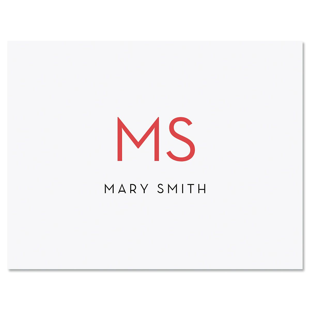 Minimalist Monogram Personalized Note Cards
