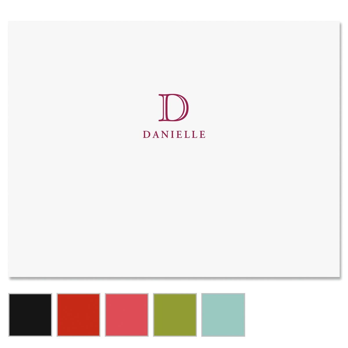 Classic Initial Personalized Note Cards