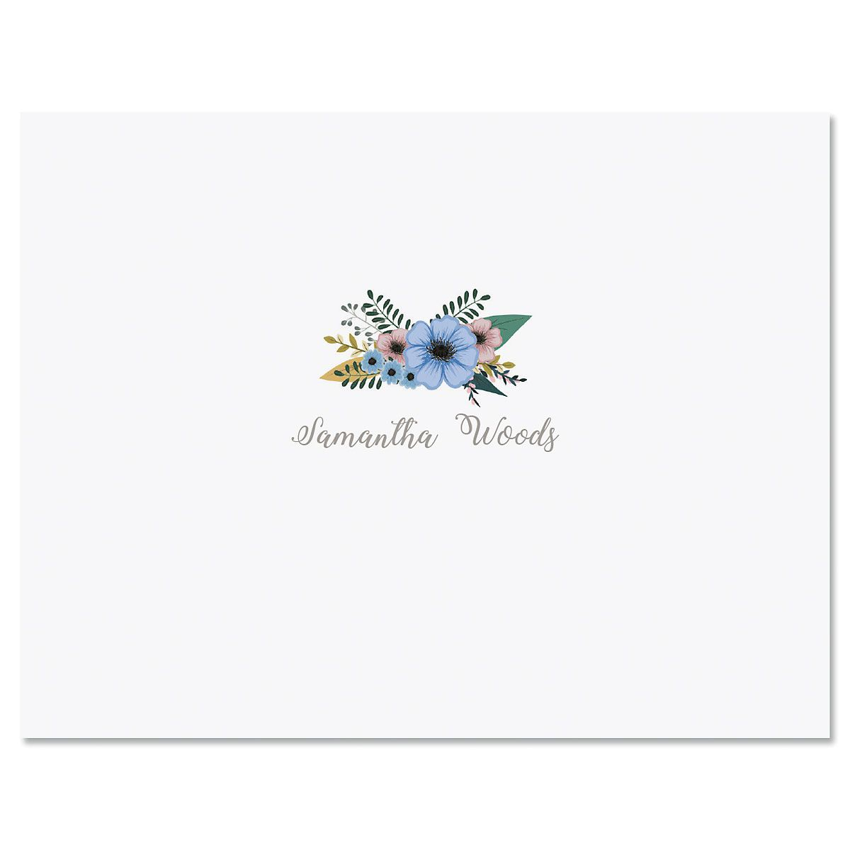 Petite Bouquet Personalized Note Cards