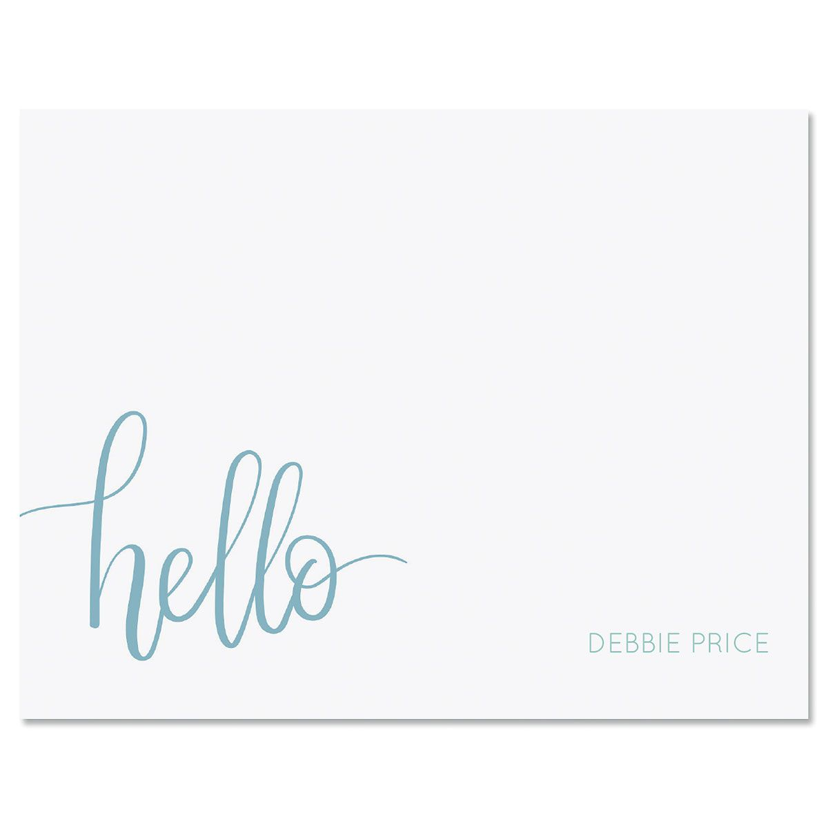 Handwritten Hello Personalized Note Card