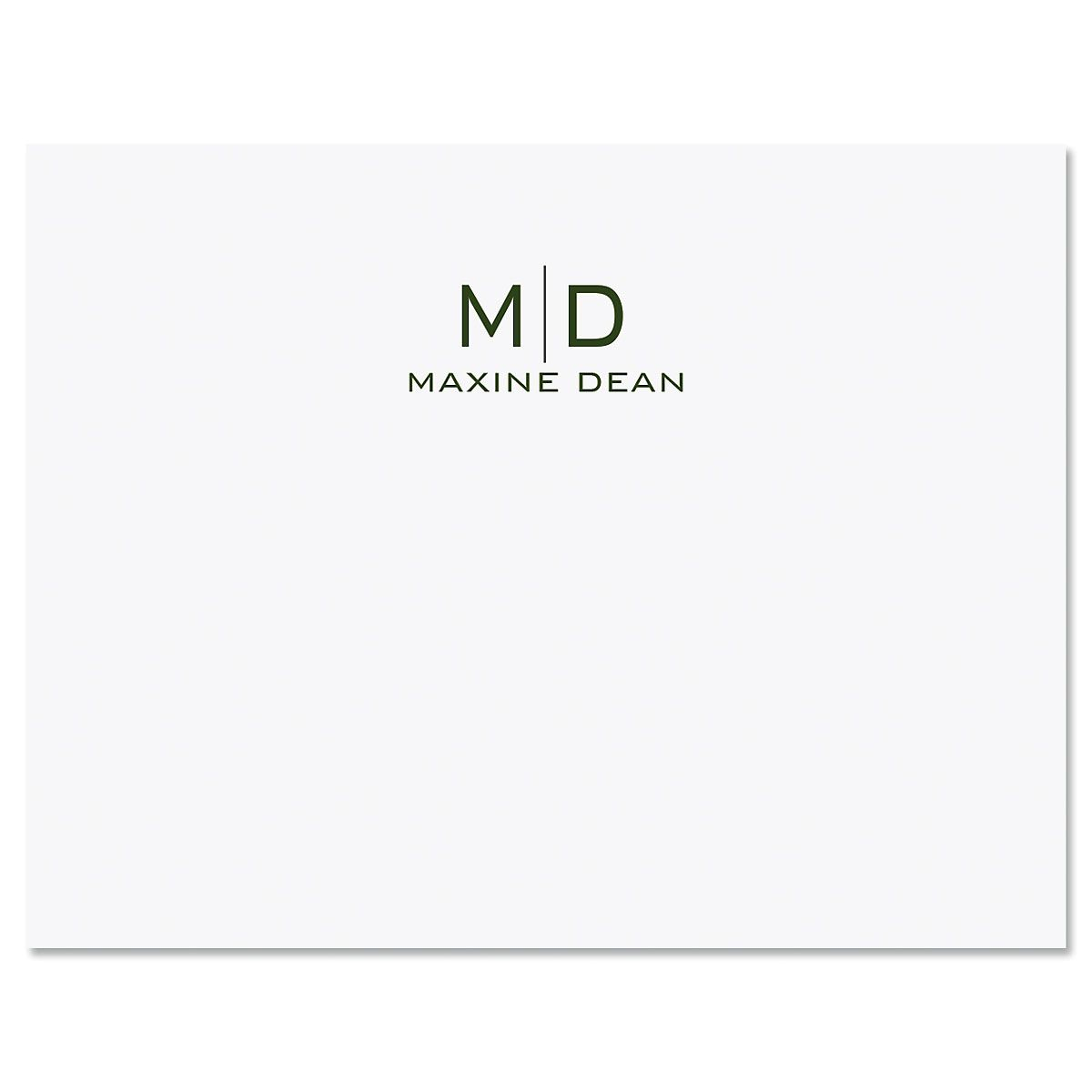 Thin Line Monogram Personalized Note Cards