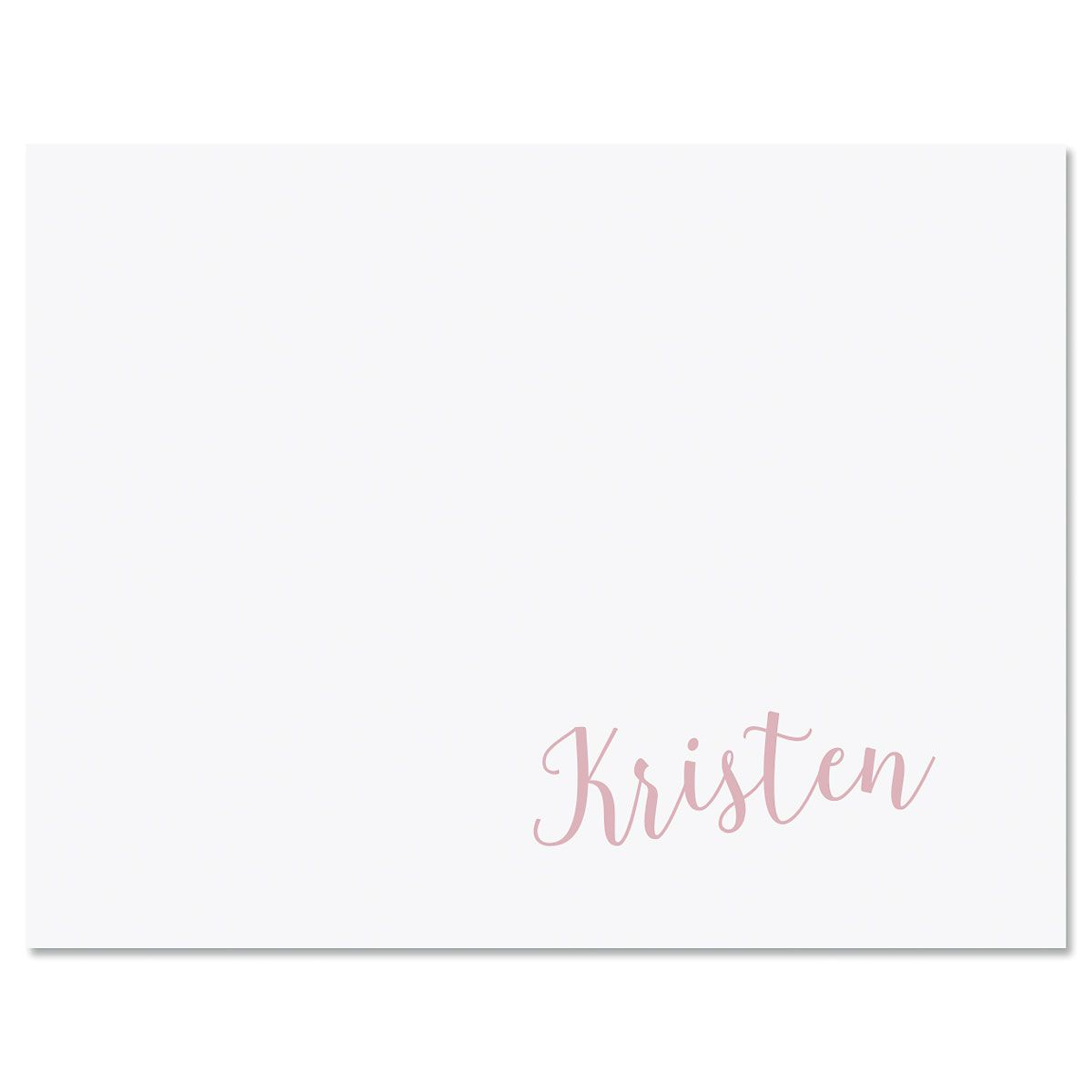 Sweeping Name Personalized Note Cards