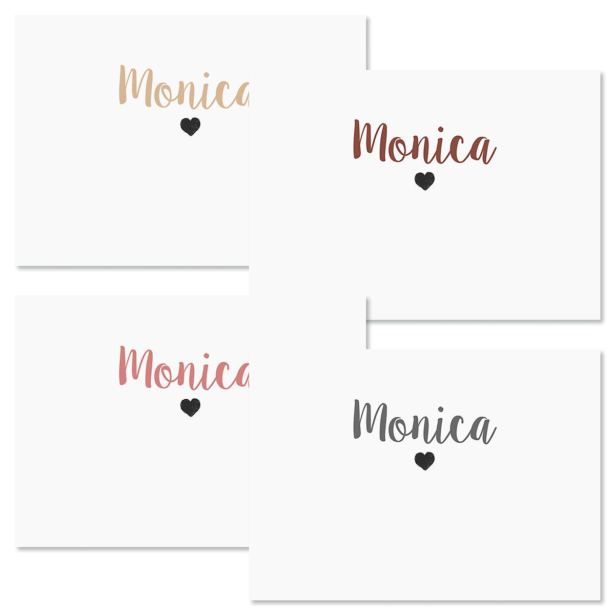 Mini Heart Personalized Note Cards