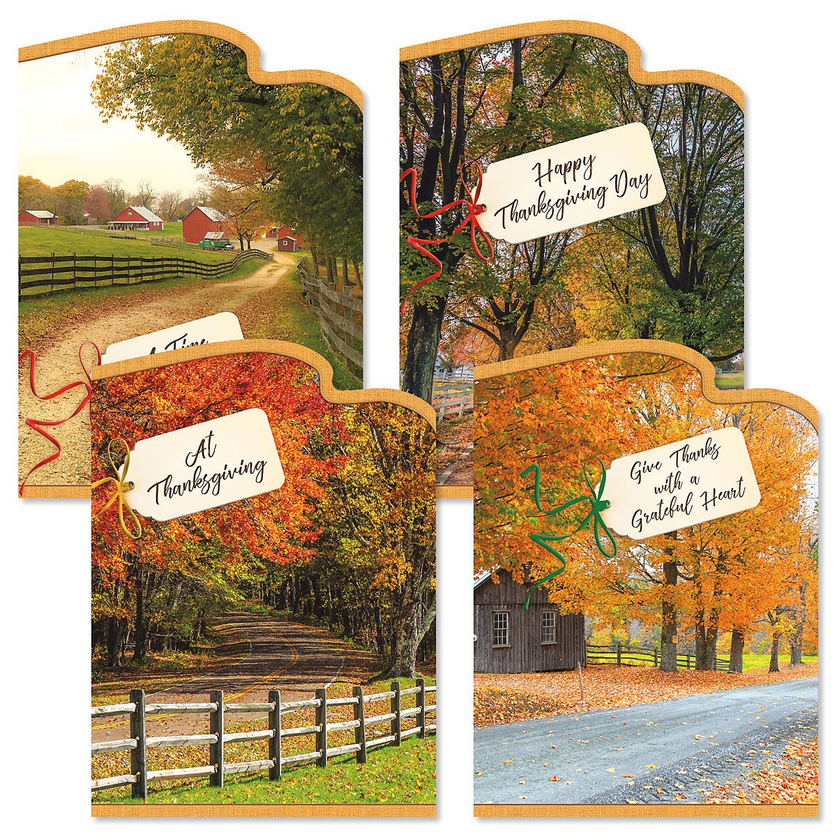 Country Roads Thanksgiving Cards