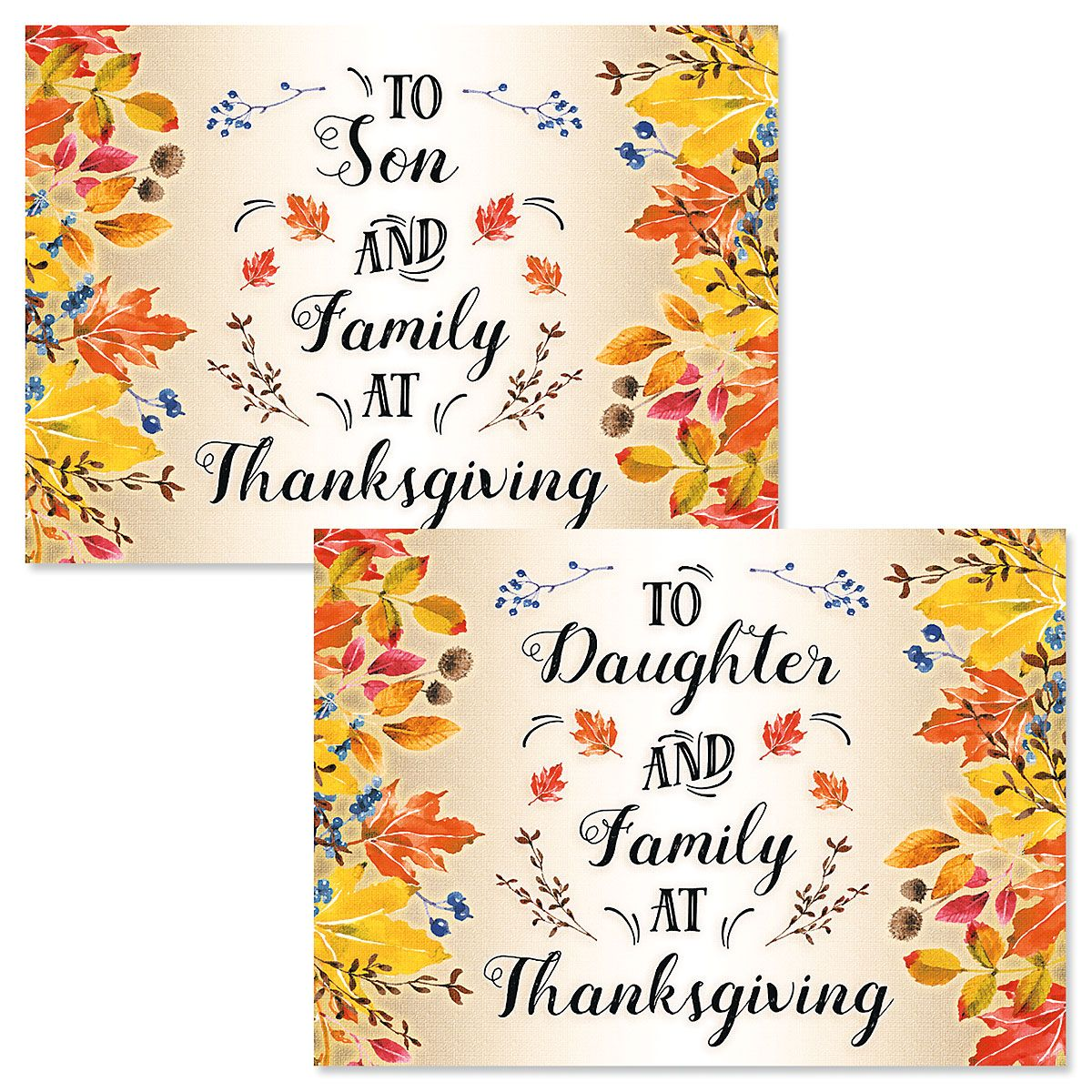 Son or Daughter Single Thanksgiving Card