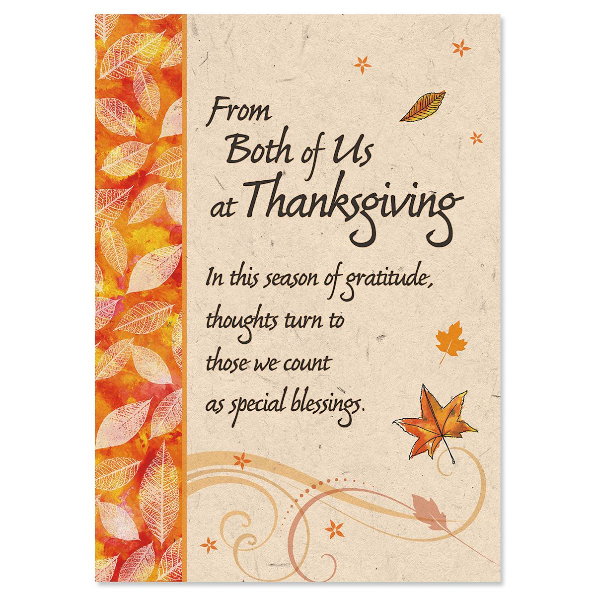 From Both Thanksgiving Card