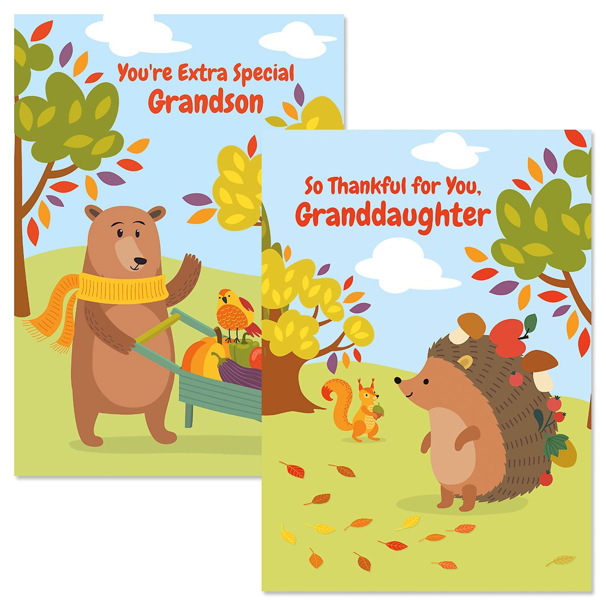 Grandchild Thanksgiving Card
