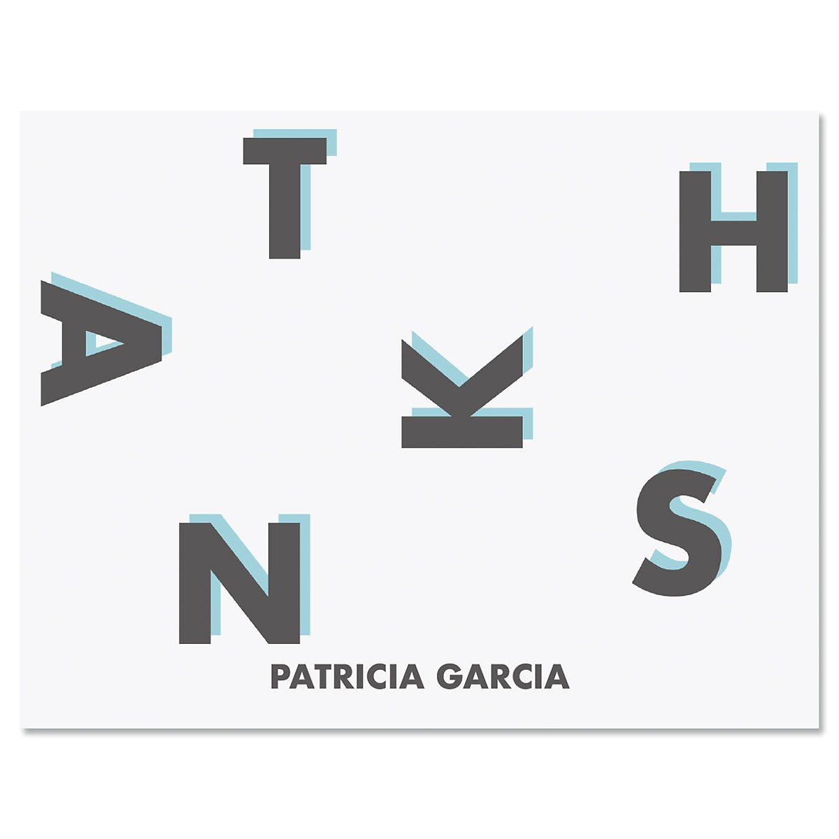 Minimal Thanks Personalized Note Cards
