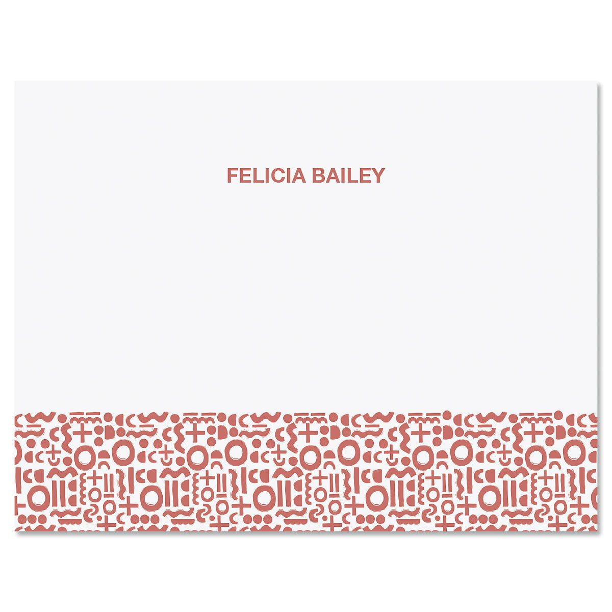 Handdrawn Pattern Personalized Note Cards